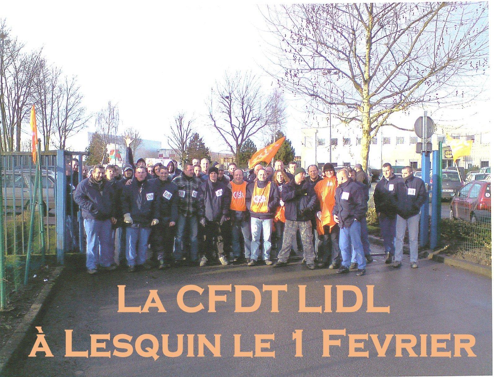 Le 1er Fevrier succes de mobilisation chez Lidl kiblerandco