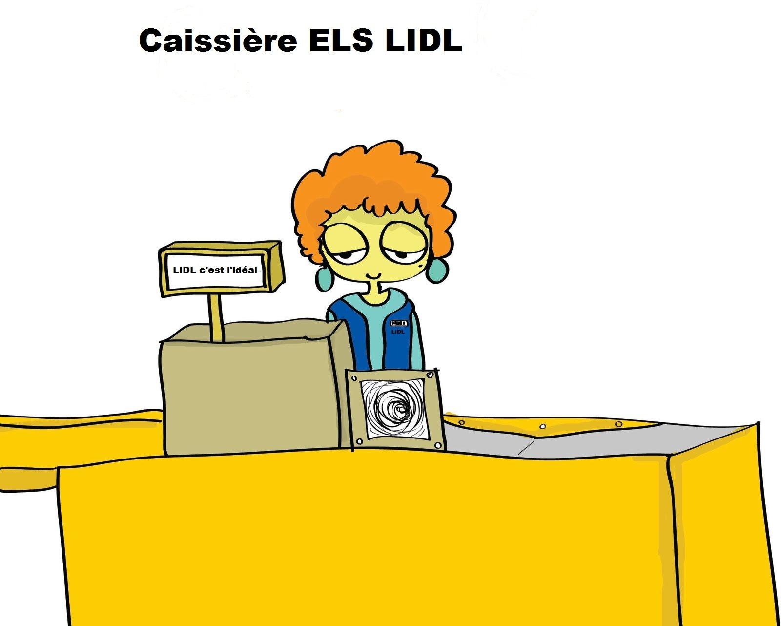 Caissière ELS chez LIDL l'hypercaissière de la distribution caissi1