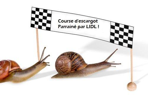 LIDL fin des négociations sur un gout amère ! course-escargot-lidl